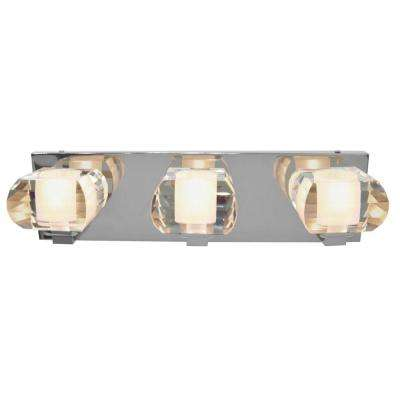 Nine Collection 3-Light Chrome Wall Vanity Light