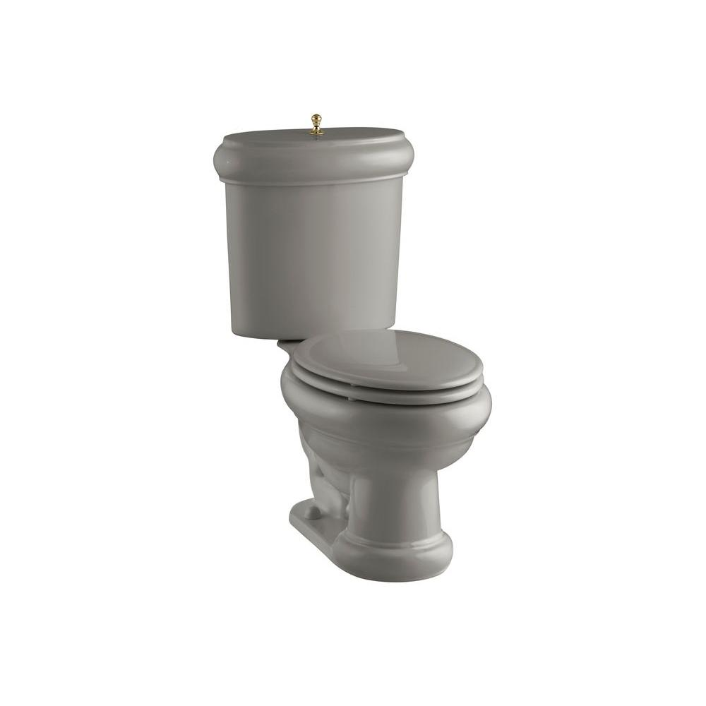 KOHLER Revival 2-piece 1.6 GPF Elongated Toilet with Seat in Cashmere