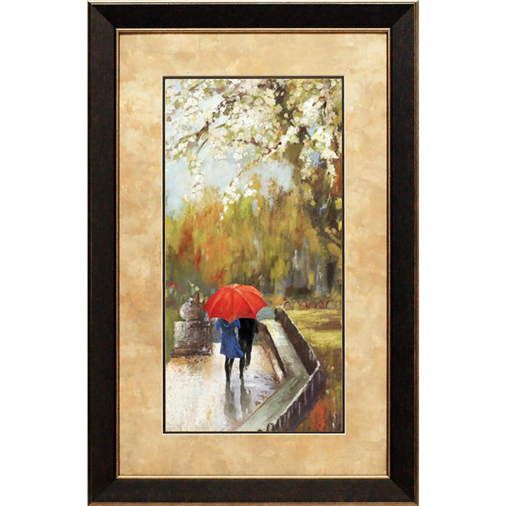 23 In X 35 In A Walk In The Park Printed Framed Wall Art N1296