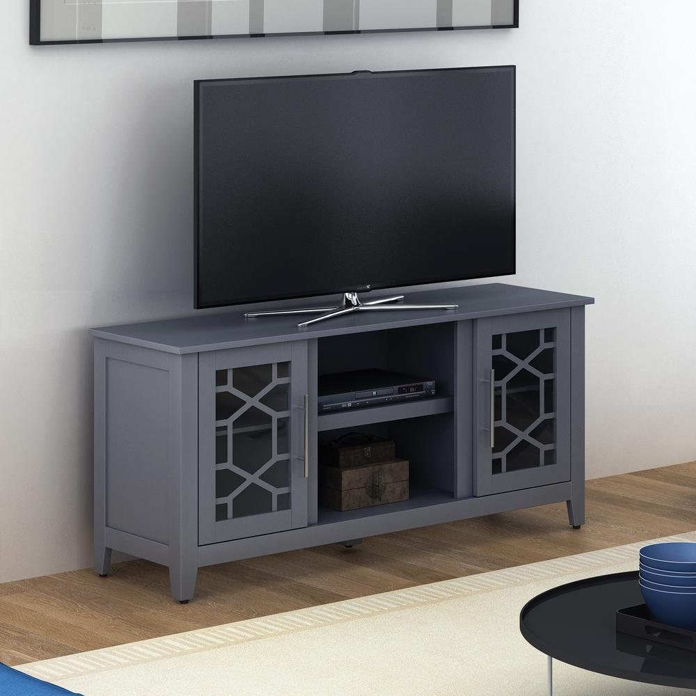 Clarion Gray TV Stand for TVs up to 60 in.