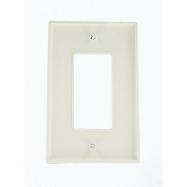 10 PACK 1-GANG UNBREAKABLE DECORATOR//DECORA//GFCI WALL PLATE OUTLET COVER WHITE