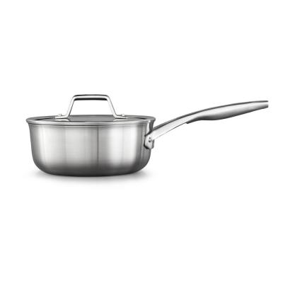 Premier 2.5 qt. Stainless Steel Sauce Pan with Glass Lid