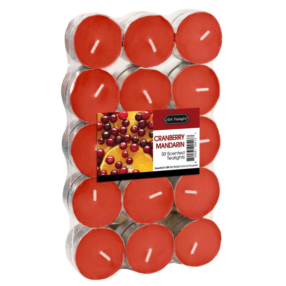 Cranberry Mandarin Tealight Candles (Set of 60)