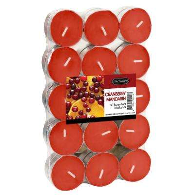 Cranberry Mandarin Tealight Candles (Set of 60)