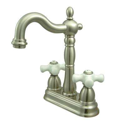 Victorian 2-Handle Bar Faucet in Brushed Nickel