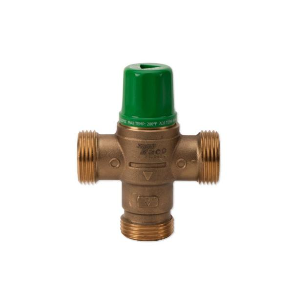 Taco Comfort Solutions 1 2 In Union Sweat Lead Free Mixing Valve With Gauge 5002 C3 G The Home Depot