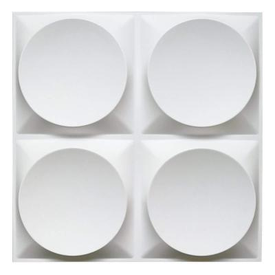 32 sq. ft. of 19.7 in. x 19.7 in. Off-White PVC 3D Wall Panels Decorative Wall Murals (12-Pack)