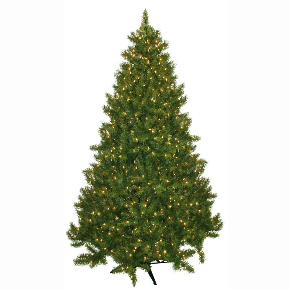 General Foam 7.5 ft. Pre-Lit Carolina Fir Artificial Christmas Tree with Clear Lights