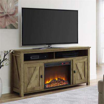 Farmington Heritage Light Pine Fire Place Entertainment Center