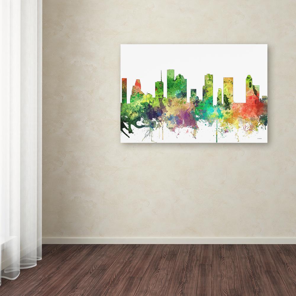Trademark Fine Art 30 In X 47 Houston Texas Skyline