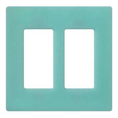 Claro 2 Gang Decora Wall Plate - Sea Glass