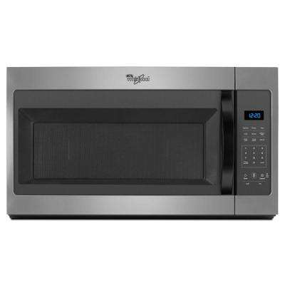 1.7 cu. ft. Over the Range Microwave Hood in Silver