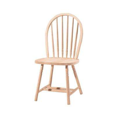 Unfinished Wood Spindle Back Windsor Dining Chair