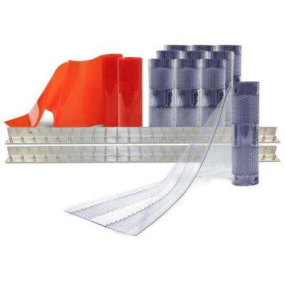 AirStream Insect Barrier 8 ft. x 10 ft. PVC Strip Door Kit