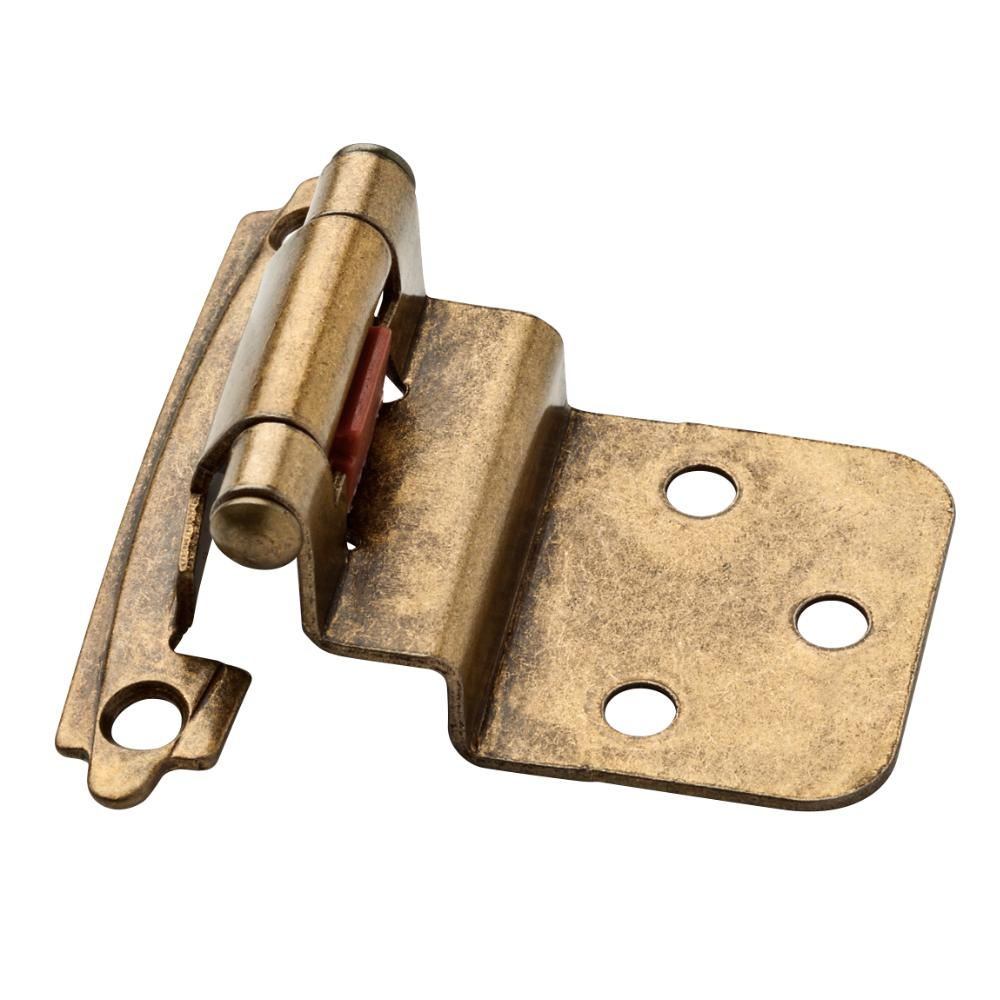 Antique Brass Self-Closing 3/8 in. Inset Cabinet Hinge (1- - Brass - Cabinet Hinges - Cabinet Hardware - The Home Depot