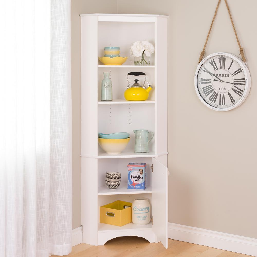 +3. Prepac Elite Tall White Storage Cabinet