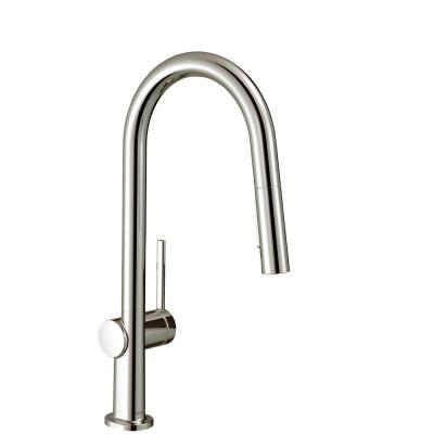 Talis N Single-Handle Pull-Down Sprayer Kitchen Faucet with QuickClean in Polished Nickel