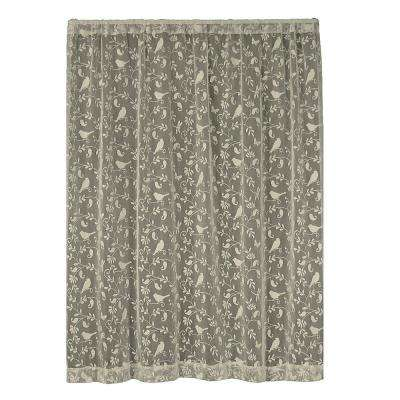 Bristol Garden Caf Lace Curtain 60 in. W x 96 in. L