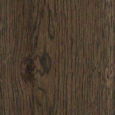 Take Home Sample - Wire Brushed Hickory Coffee Hardwood Flooring - 5 in. x 7 in.