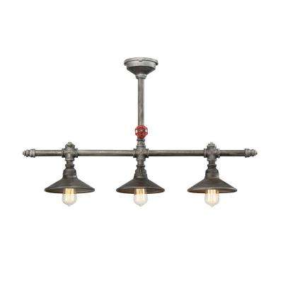 Zinco Collection 3-Light Aged Silver Chandelier