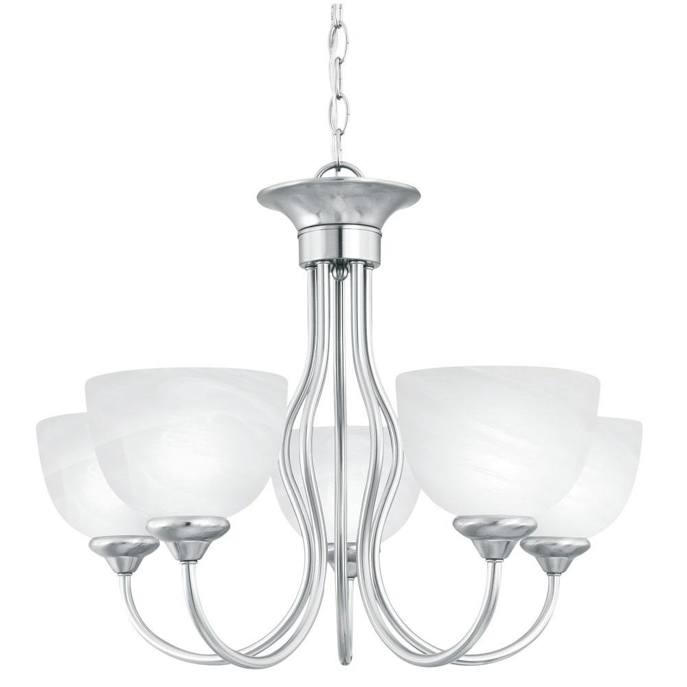 Thomas Lighting Tahoe 5 Light Brushed Nickel Chandelier