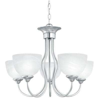 Tahoe 5-Light Brushed Nickel Chandelier
