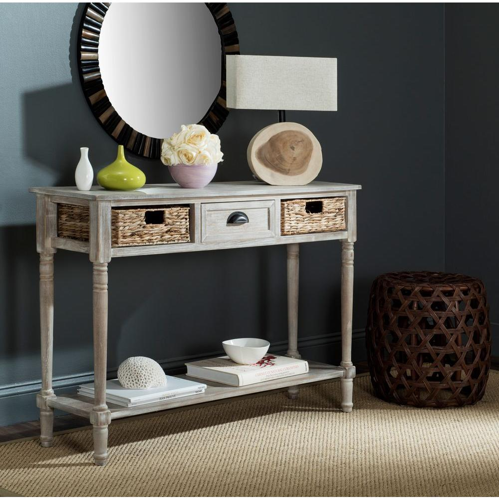 Safavieh christa winter melody storage console table amh5737e safavieh christa winter melody storage console table geotapseo Choice Image