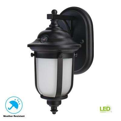 LED Exterior Wall Lantern Sconce with Dusk to Dawn Control