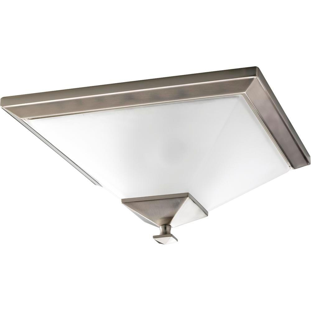 Progress Lighting North Park 2-Light Brushed Nickel Flush Mount
