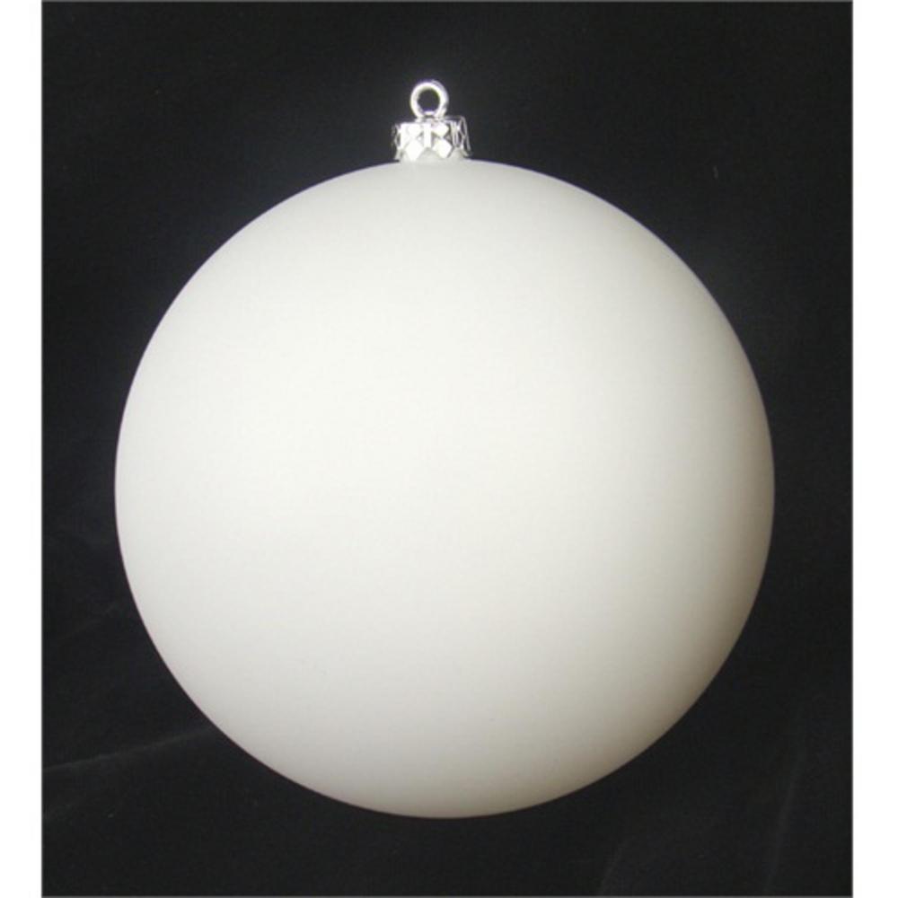 Matte Winter White Shatterproof Christmas Ball Ornament