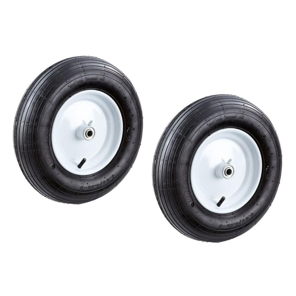 Farm and Ranch 16 in. Replacement Pneumatic Wheelbarrow Tire (2-Piece)