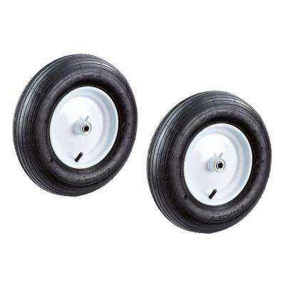 16 in. Replacement Pneumatic Wheelbarrow Tire (2-Piece)
