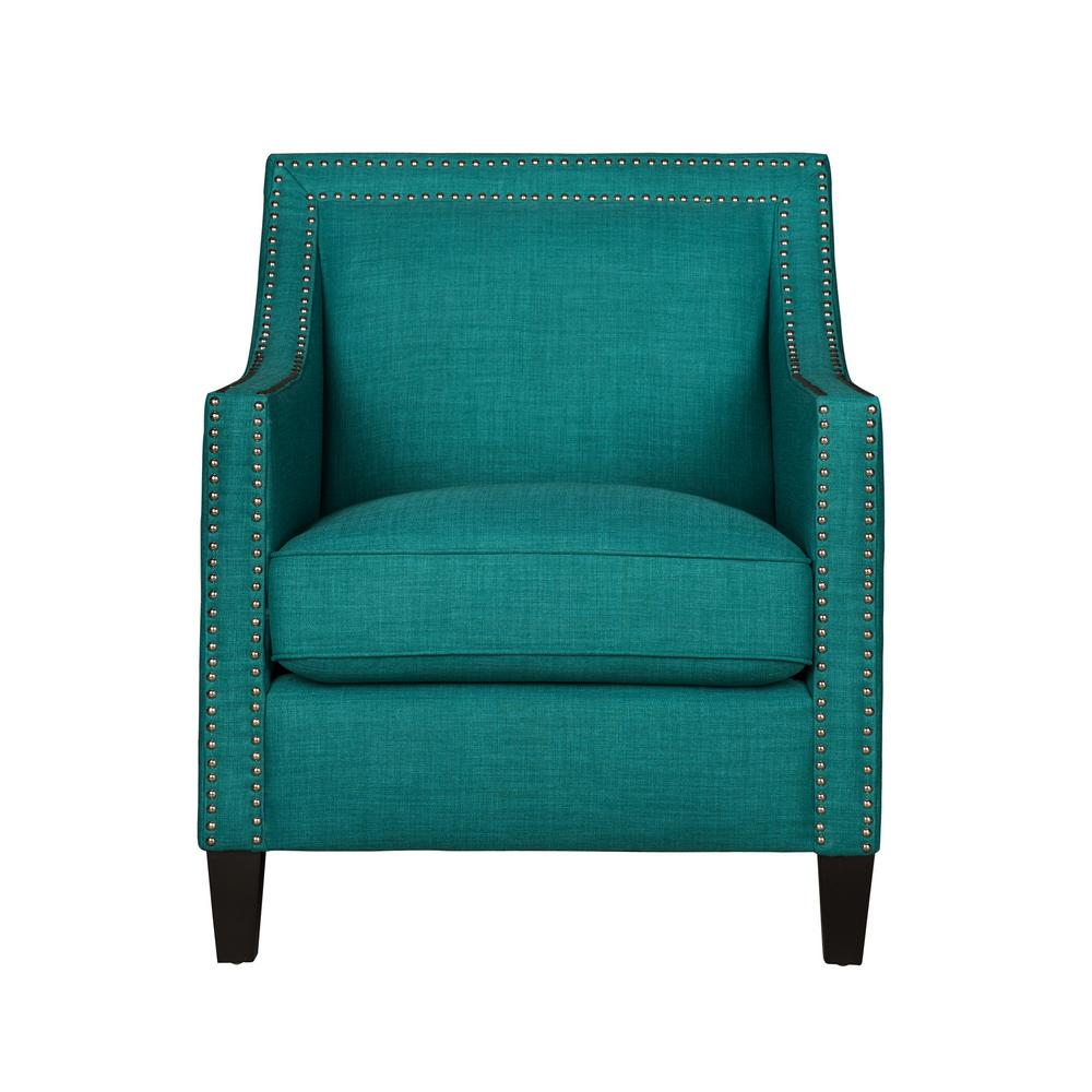 Emery Teal Arm Chair Uer087100ca The Home Depot