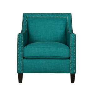 Emery Teal Ottoman Uer087000ca The Home Depot