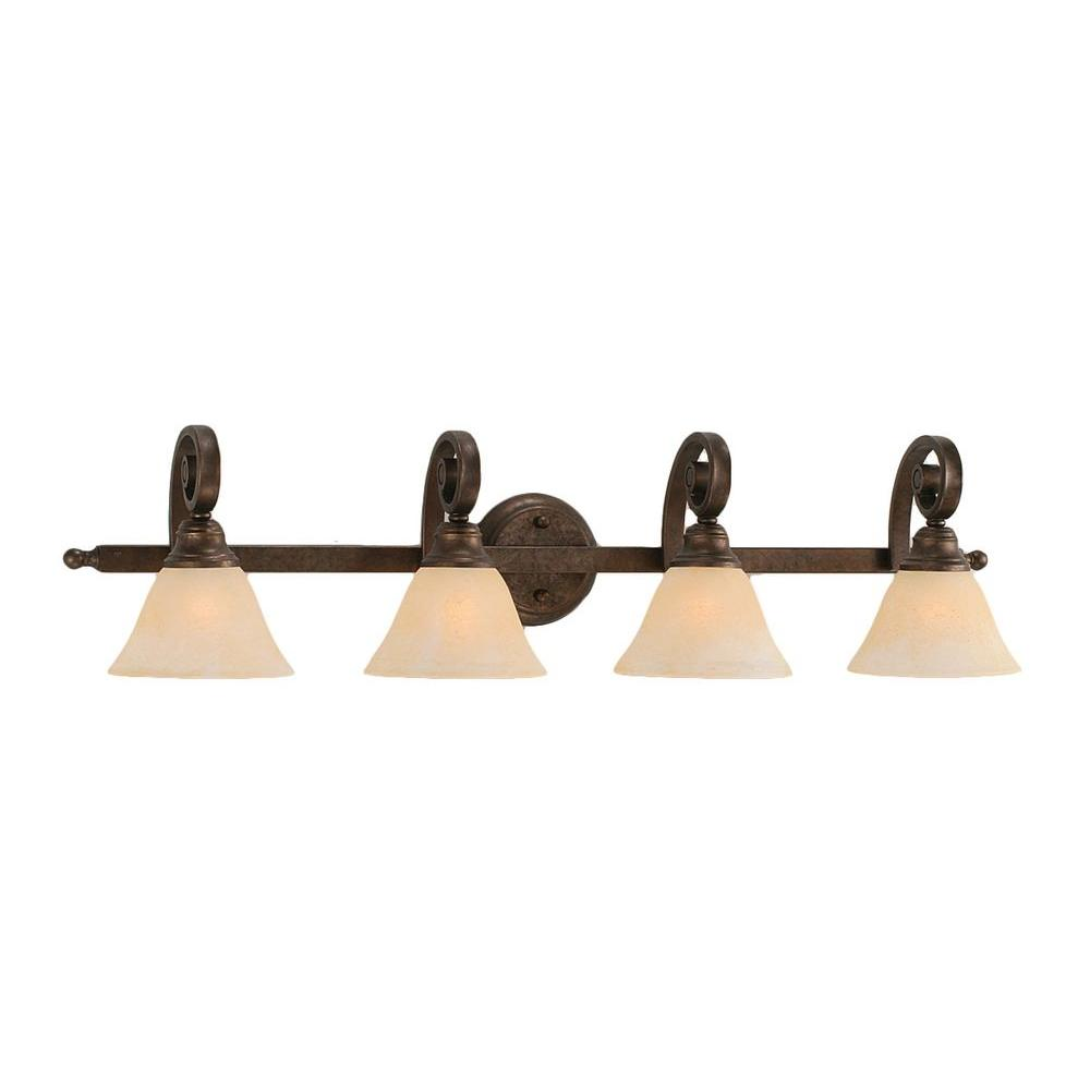 Filament Design Concord 4 Light Bronze Vanity Light Cli