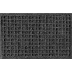 Aqua Shield Charcoal 24 inch x 36 inch Squares Polypropylene Door Mat by Aqua Shield