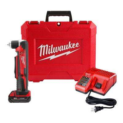 M18 18-Volt Lithium-Ion Cordless 3/8 in. Right Angle Drill Kit W/(1) 1.5Ah Batteries, Charger, Hard Case