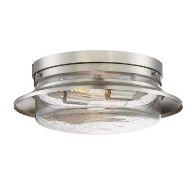 Dover 2-Light Satin Platinum Interior Flush Mount