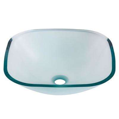 Piazza Square Glass Vessel Sink ...
