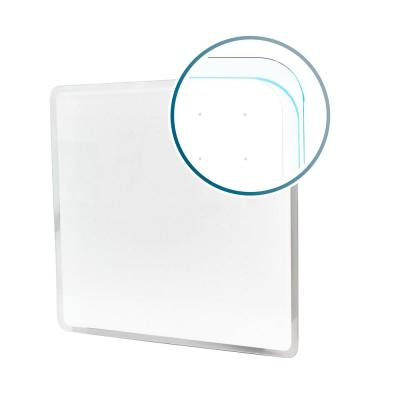 Viztex® Glacier 14 in. x 14 in. White Multi-Purpose Grid Glass Dry Erase Board