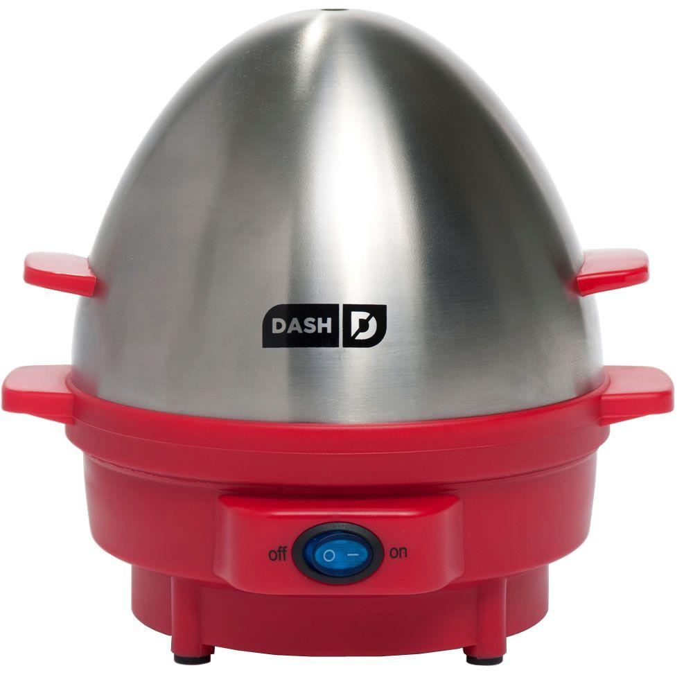 Dash 7-Egg Rapid Egg Cooker in Red-DISCONTINUED
