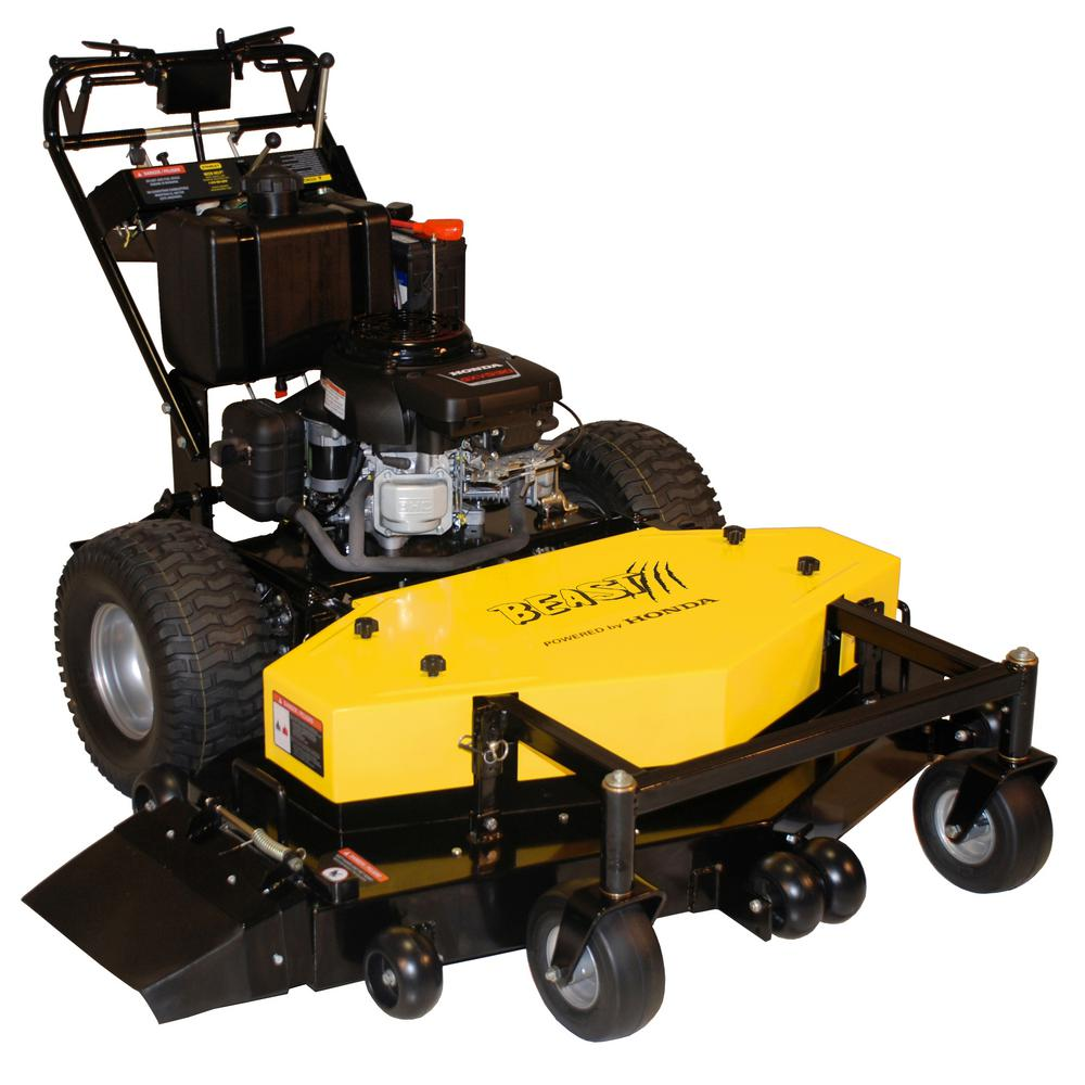 Beast 54 in. 22 HP, 530cc Honda Engine, Commercial Duty, Dual Hydro Walk Behind Finish Cut Turf Mower w/Floating Deck