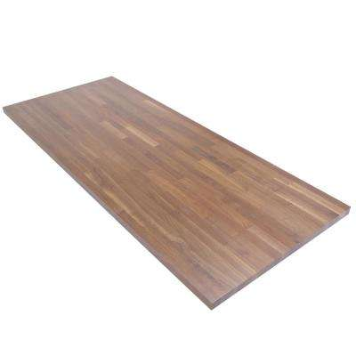 6 ft. L x 2 ft. 6 in. D x 1.5 in. T Butcher Block Countertop in Finished Walnut