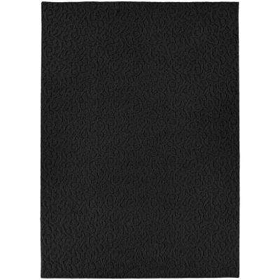 Ivy Black 6 ft. x 9 ft. Area Rug