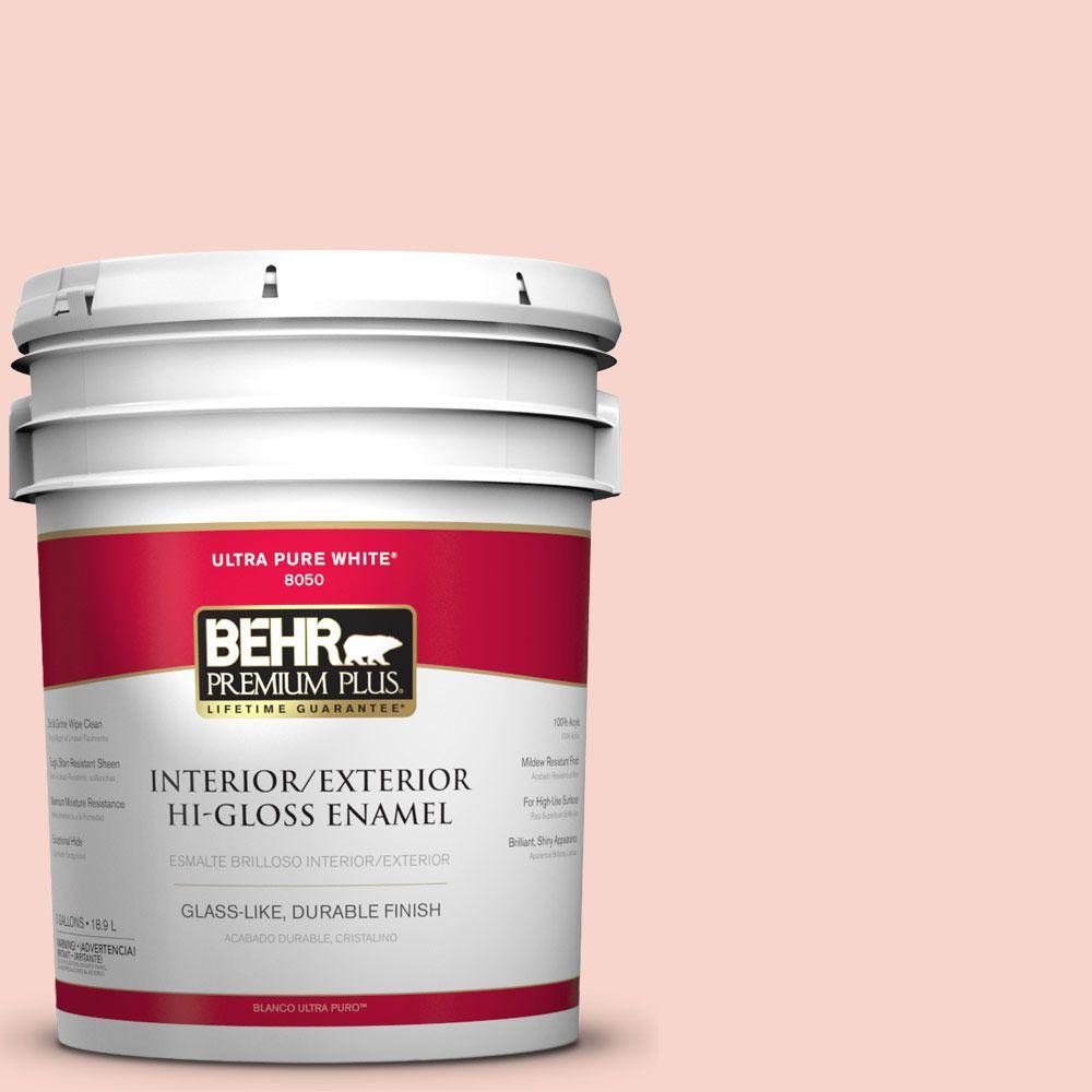 BEHR Premium Plus 5-gal. #P180-1 Deco Shell Hi-Gloss Enamel Interior/Exterior Paint