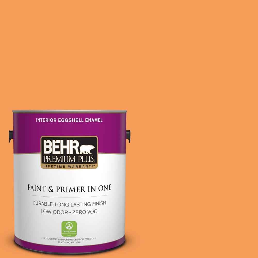 BEHR Premium Plus 1-gal. #P220-6 Bergamot Orange Eggshell Enamel Interior Paint