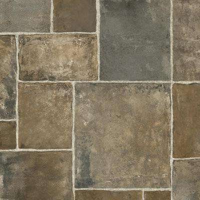 Regina Stone Grey Residential Vinyl Sheet, Sold by 13.2 ft. Wide x Custom Length