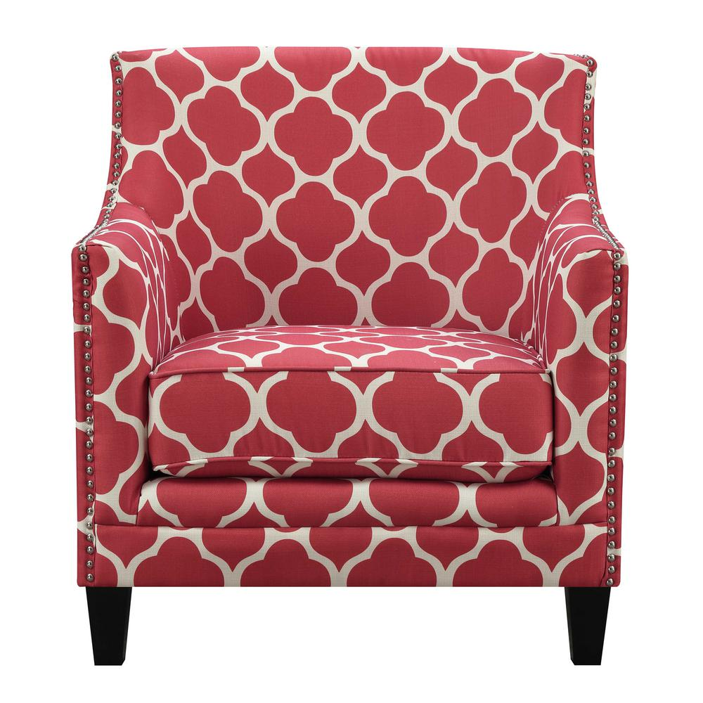 Deena Red Accent Chair
