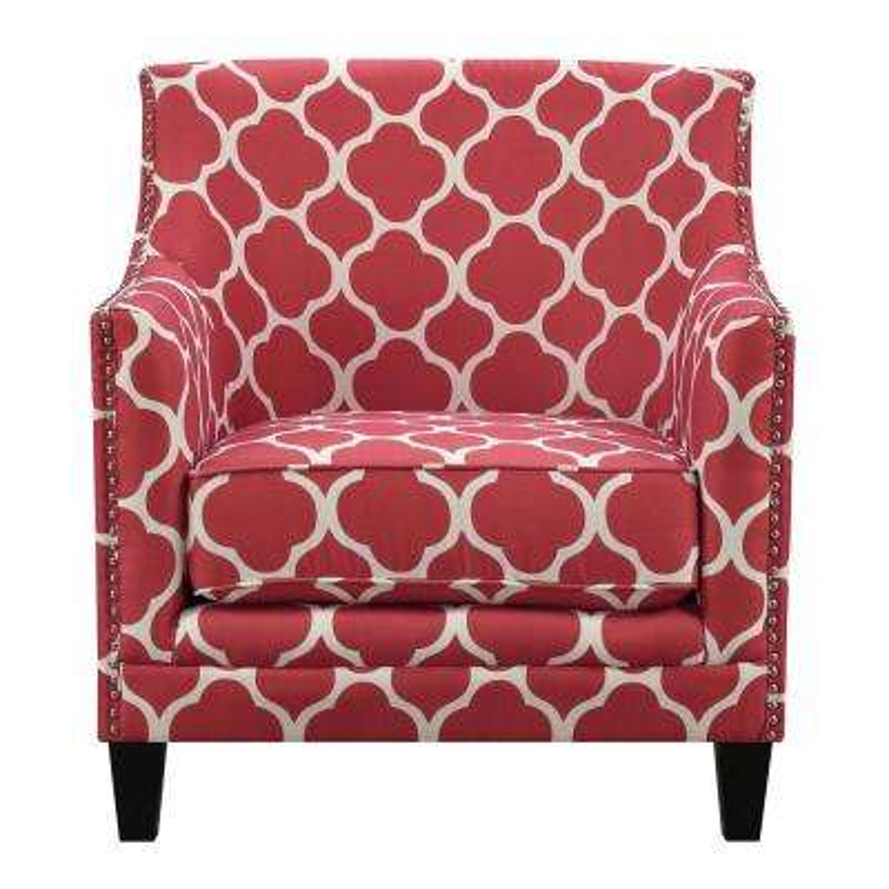 Deena Red Accent Chair
