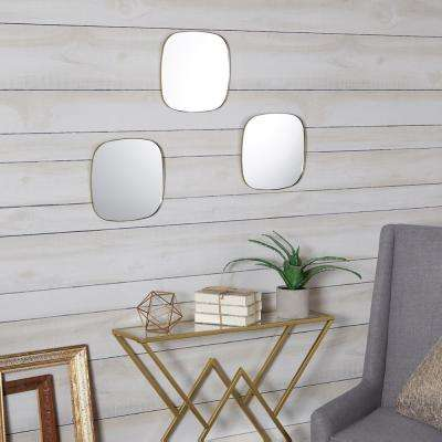 Dorado Rounded Gold Mirror Set of 3